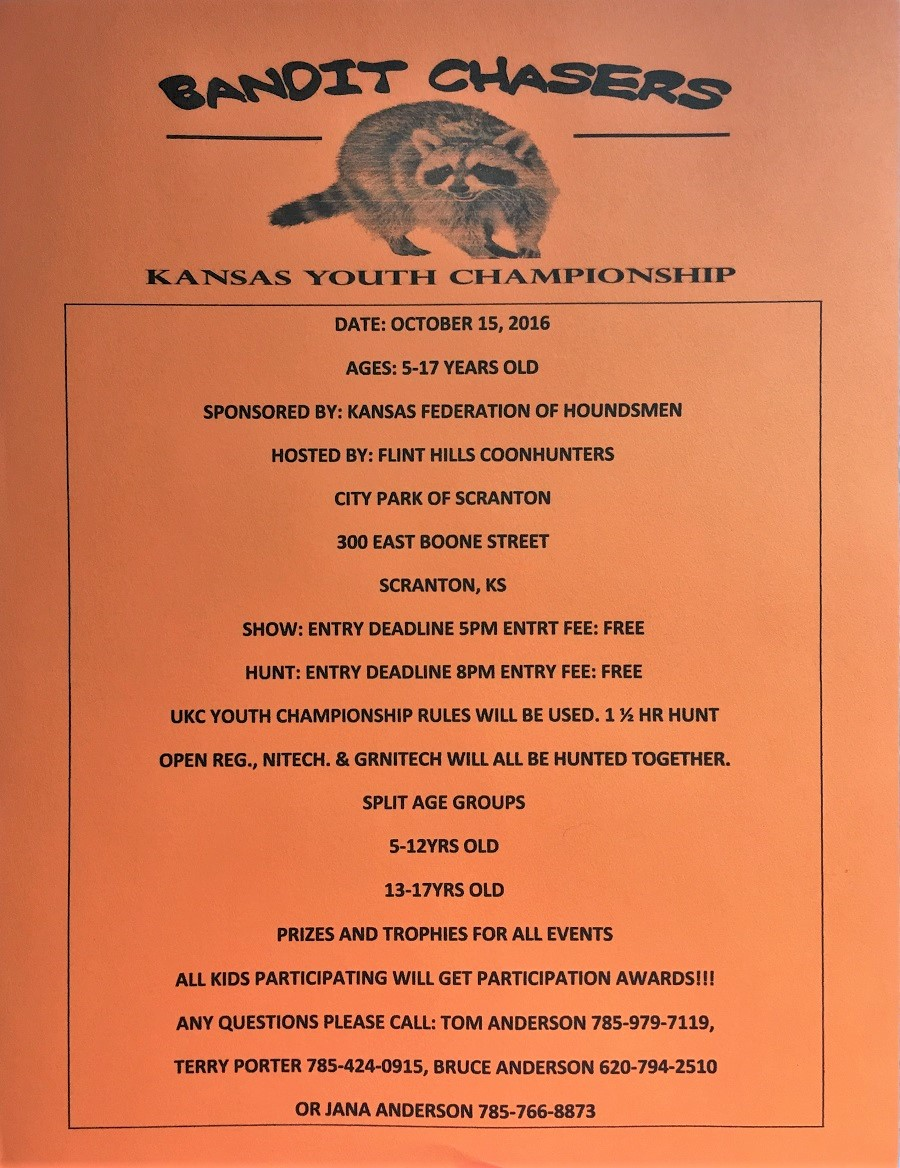 Bandit Chasers-Kansas Youth Championship-October 15th,2016
